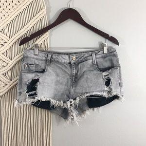 Zara gray wash mini shorts US 10